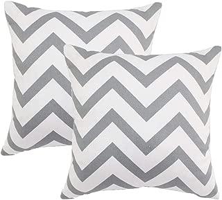 grey chevron outdoor pillows
