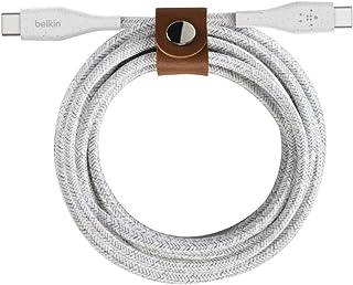 comprar comparacion Belkin BoostCharge Cable USB-C a USB-C con Correa (Cable USB-C Duradero de Doble Trenzado para MacBook, iPad Pro, Samsung ...