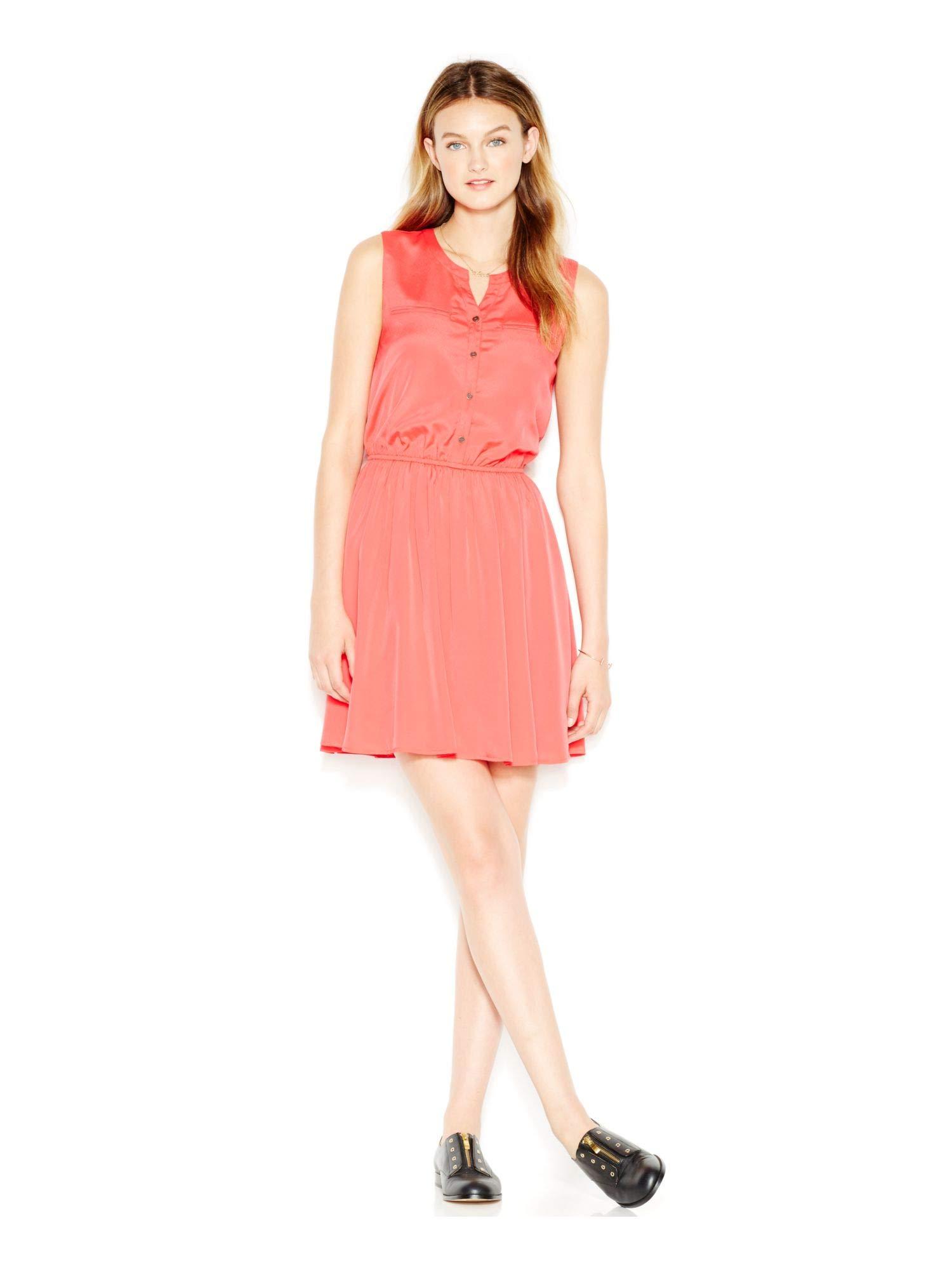 Available at Amazon: Maison Jules Women's Sleeveless Blouson Casual Dress Orange L