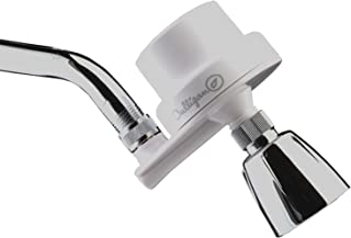 Culligan ISH-100 Inline Showerhead Filtration Attachment with Filter, 10,000 Gallon, White
