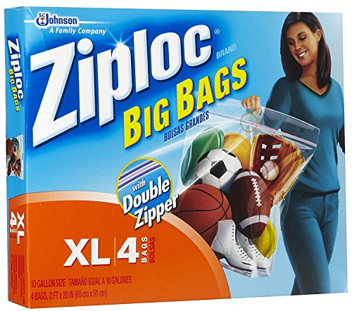 Ziploc XL HD Big Bag (4 Bags) Packaging may vary