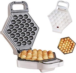 Piastra in ferro antiaderente per waffler a forma di uovo di Hong Kong Pronto in meno di 5 minuti 50Hz 640W bianco Piastra per waffle elettrica domestica