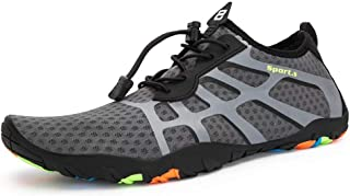 HANS CAO Mens Water Shoes Beach River Quick Dry Shoes Sport Barefoot Aqua Socks for Swim Walking Diving Pool Yoga Surf