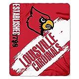 NORTHWEST NCAA Louisville Cardinals Fleece Throw Blanket, 50' x 60', Painted