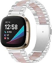 Jennyfly Band compatibile con Fitbit Sense, cinturino di ricambio per orologio da donna in resina, comodo cinturino di ric...