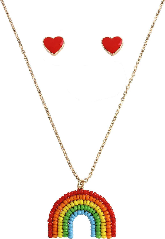 Betsey Johnson Rainbow Jewelry Set