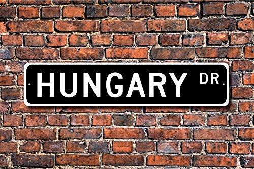 Aersing Funny Metall Schilder Ungarn Schild Wand Decor Geschenk Souvenir Andenken Garage Home Yard Zaun Auffahrt Street Decor