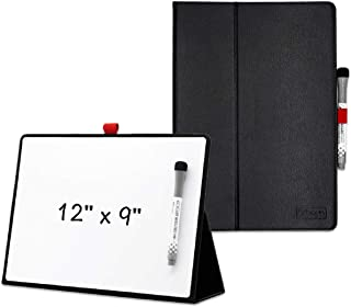 """Small Dry Erase White Board for Desk 11.7""""x8.3"""",Portable Mini Desktop Smart Reusable A4 Notebook Dry Erase Notepad with St..."""