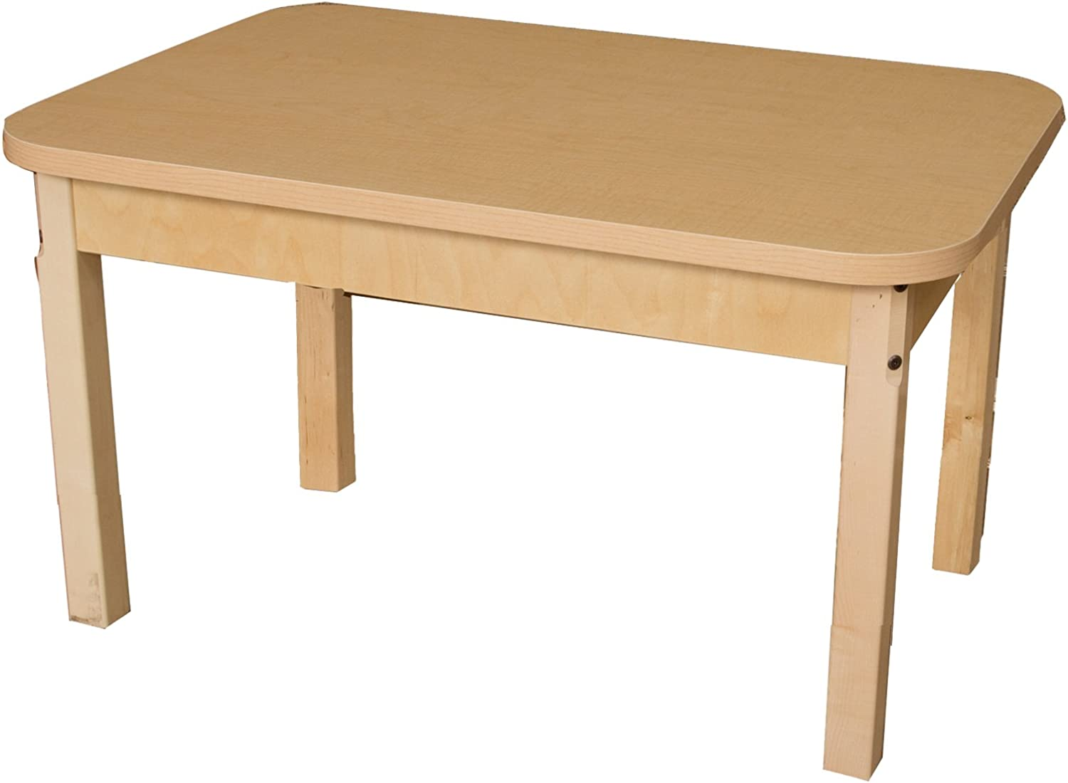 Wood Designs HPL243626 - Rectangle High Pressure Laminate Table with Hardwood Legs, 26