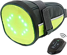 ECEEN LED Cycling Saddle Bag Bicycle Under Seat Bag with Reflective Turn Signal Direction Indicator Light & Wireless Remot...