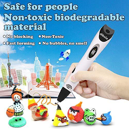 Tipeye 3D Stift Nachfüller 12 Farben 6,1 M, 3D Stifte Filament 1,75mm, 3D Stift Farben Set für ODRVM, Uvistare, Sunlu, PLUSINNO, QPAU, Lovebay, Nexgadget und dikale 3D Druckstift - 5