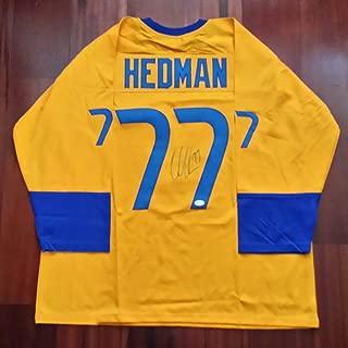 Victor Hedman Autographed Signed Jersey Tampa Bay Lightning Team Sweden JSA