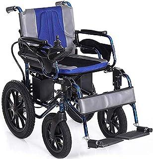 AOLI Silla de ruedas eléctrica plegable motorizado sillas de ruedas eléctricas, sillas de ruedas Potente motor dual, ligero, sólo 37 kg, para trabajo pesado, de doble motor plegable Silla de ruedas e