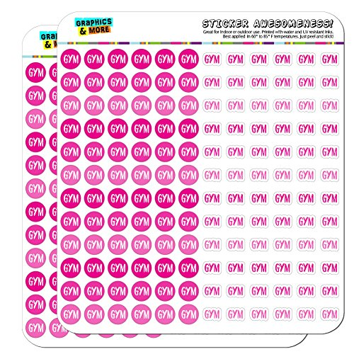Gym Dots Planner Calendar Scrapbooking Crafting Stickers - Pink - Clear