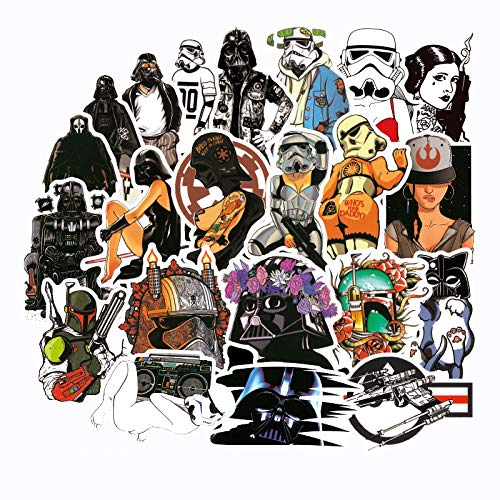 Pegatina de Star Wars, Maleta, Personalidad, Guitarra Creativa, monopatín, Puerta, Pegatina de Pared, Pegatina de Marea Secundaria, 100 Uds.