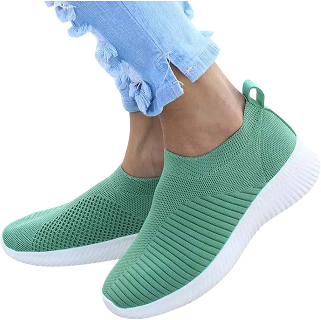 Teshalay Women's Fashion Sneakers, Casual Comfy Round Toe Wedges