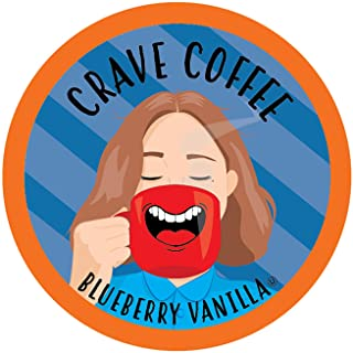 Crave Coffee Flavored Coffee Pods, Compatible with 2.0 K-Cup Brewers, Blueberry Vanilla, 40 Count