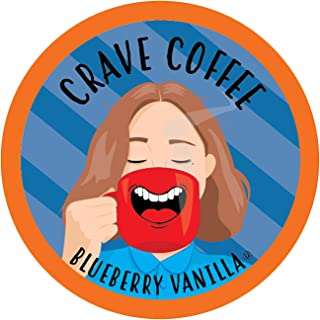 Crave Flavored Coffee Pods, Compatible with 2.0 K-Cup Brewers, Blueberry Vanilla, 100 Count