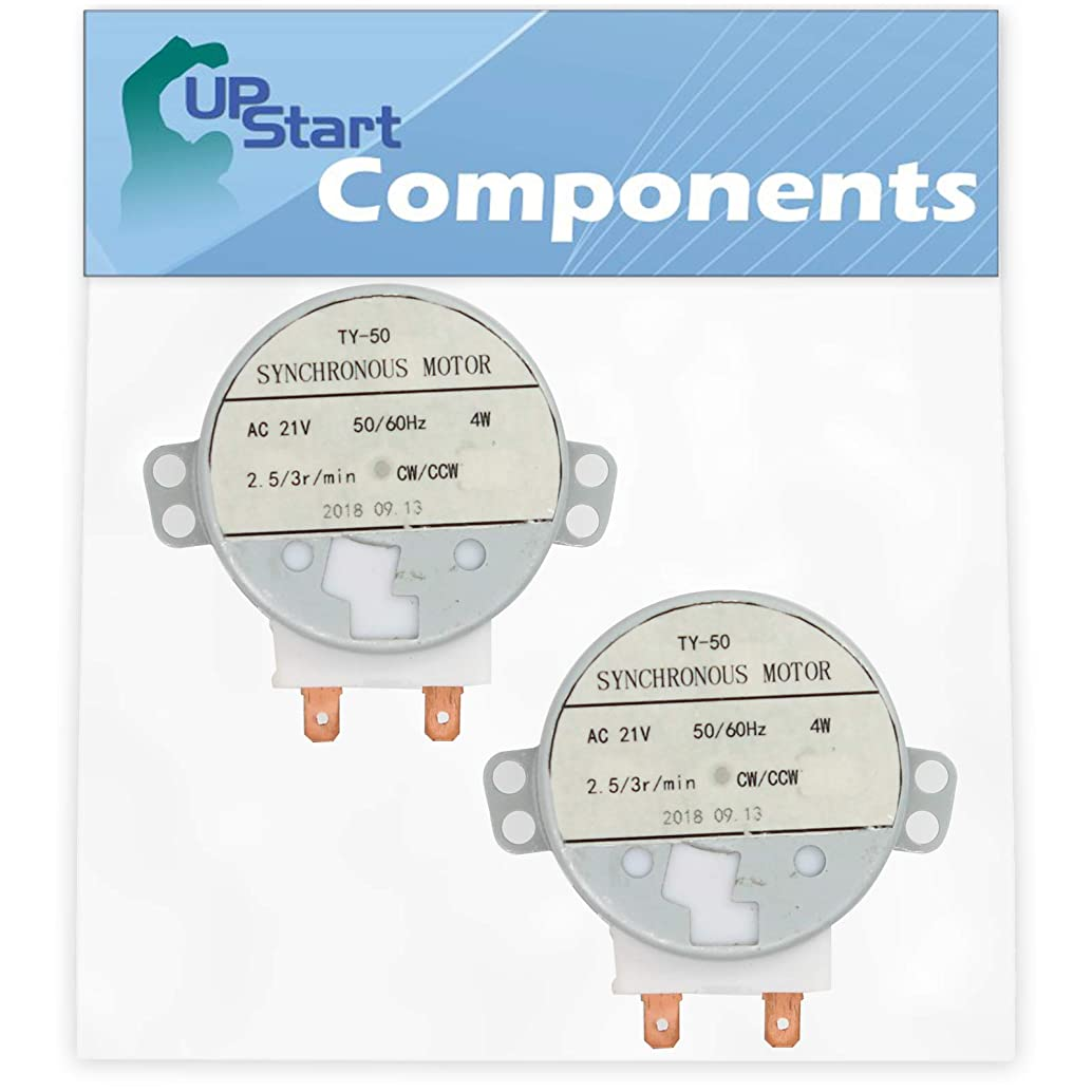 2-Pack WB26X10038 Microwave Turntable Motor Replacement for General Electric JVM1730DM2BB Microwave - Compatible with WB26X10038 Turntable Motor - UpStart Components Brand