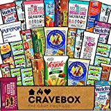 CraveBox Healthy Care Package (30 Count) Natural Food Bars Nuts Fruit Health Nutritious Snacks Variety Gift Box Pack Assortment Basket Bundle Mix Sampler College Students Office Staff Back to School