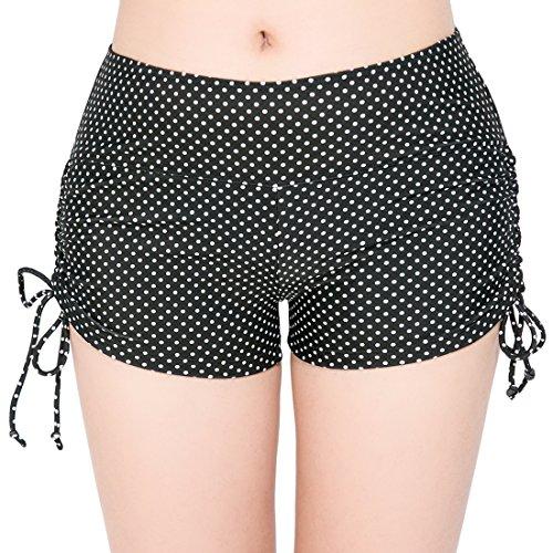 FLYILY Dames Sport Zwemshorts met Verstelbare Trekkoord Mini Boyshorts Bikini Zwemkleding Tankini Bottoms (FBA)