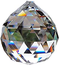 40mm Clear Crystal Ball Prisms Pendant Feng Shui Suncatcher Decorating Hanging Faceted Prism Balls