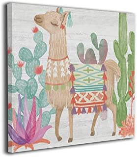 Hobson Reginald Bungalow Rose Lovely Llamas Oil Paintings Stretched Framed Ready Hang Modern Abstract Canvas Wall Art Home Decoration