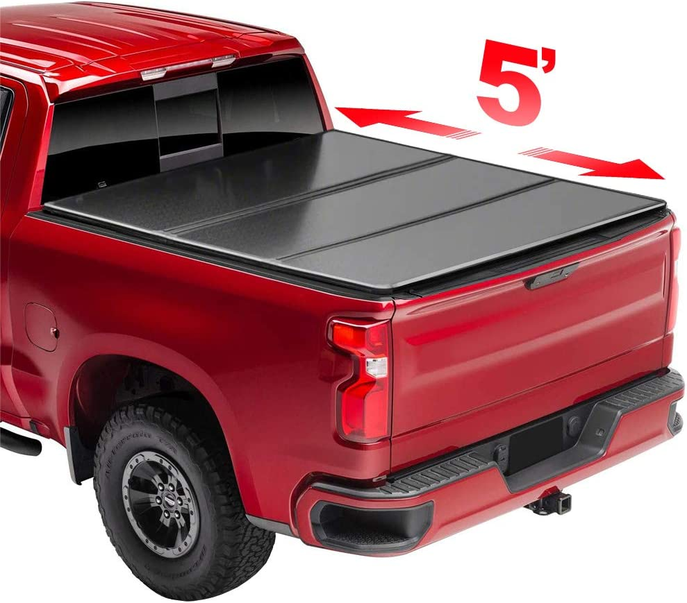 Gevog 5' Kansas City Mall Spring new work Hard Tri-Fold Tonneau with 2020 Gladia Cover Compatible