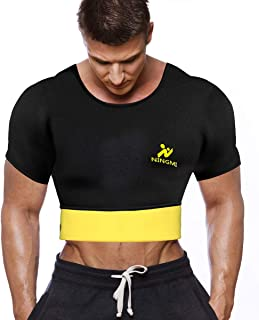 Mens Waist Trainer Vest Hot Sweat Shirt Neoprene Sauna Suit Workout Body Shaper Cami for WeightLoss Tummy Fat Loss