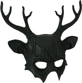 Zeckos Metallic Crow Skull Half Face Steampunk Bird Mask