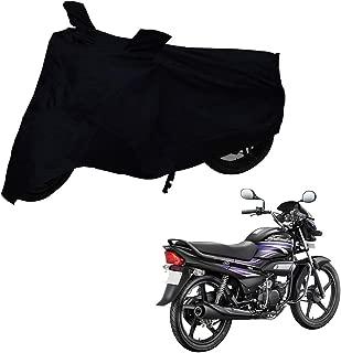 Mototrance Black Bike Body Cover for Hero Super Splendor