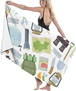 Travel Equipment Accessories Camping Sports Recreation Activity Microfiber Beach Towel, Quick Drying Lightweight Travel Towels, 31.5 x51 Inch