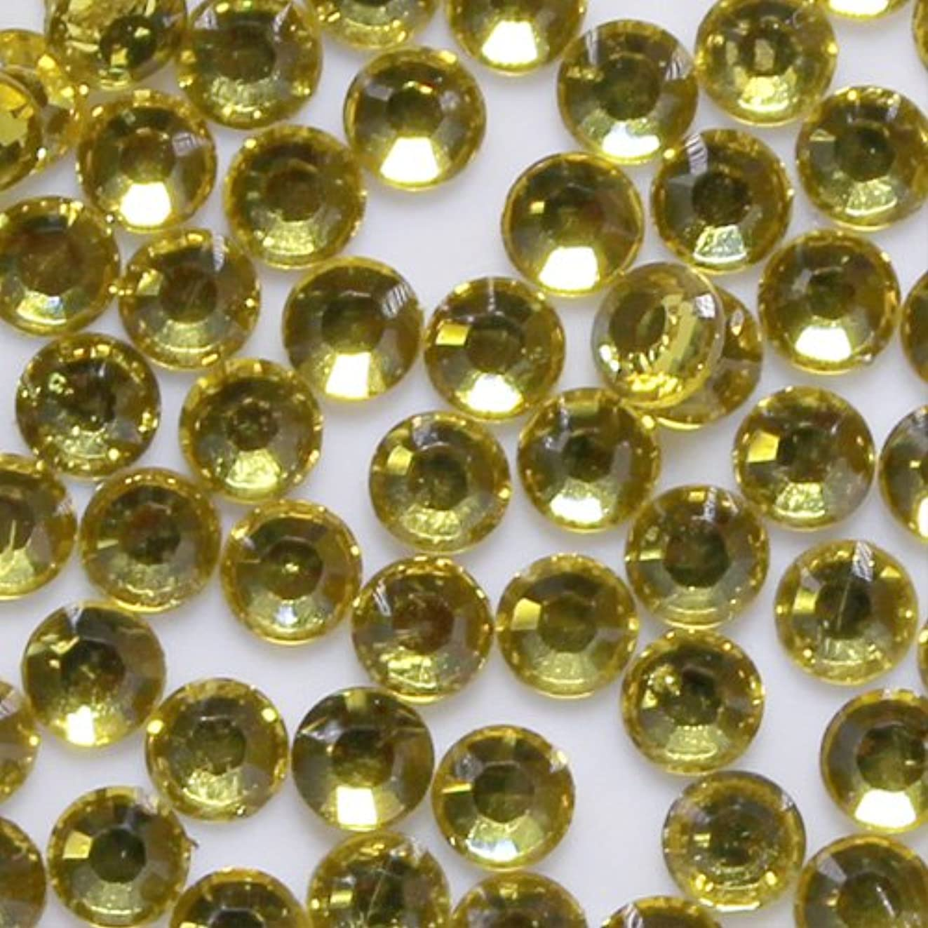 懐禁輸許容高品質 アクリルストーン ラインストーン ラウンドフラット 約1000粒入り 2mm シトリン