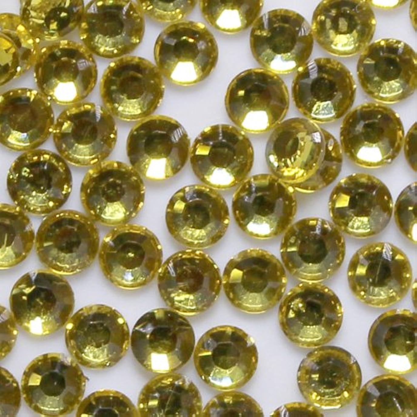 リム再編成するブリード高品質 アクリルストーン ラインストーン ラウンドフラット 約1000粒入り 2mm シトリン