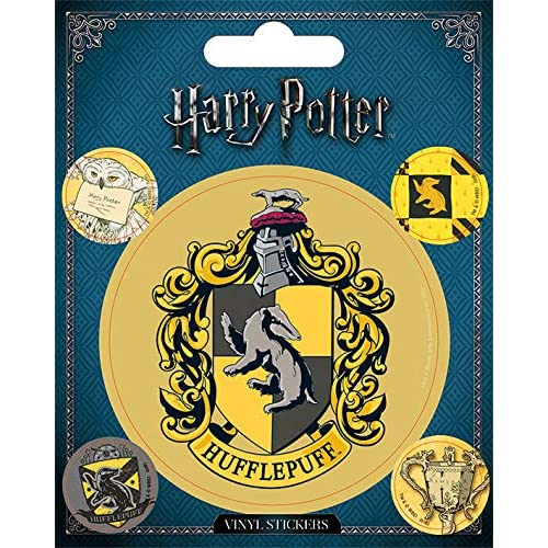 Wizarding World Harry potter-hufflepuff sticker in vinile, multicolore, 10 x 12.5 cm