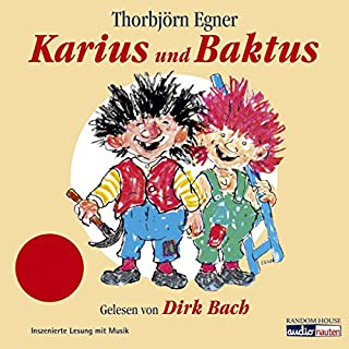 Karius und Baktus                   Autor:                                                                                                                                 Thorbjoern Egner                               Sprecher:                                                                                                                                 Dirk Bach                      Spieldauer: 28 Min.     47 Bewertungen     Gesamt 4,4