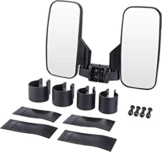 UTV Rear View Side Mirror, ISSYZONE Break Away Mirrors with 1.75