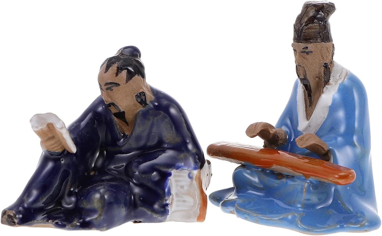 Happyyami 2PCS Miniature Man Figurine Statue Elder Max Excellent 45% OFF Fairy Chinese