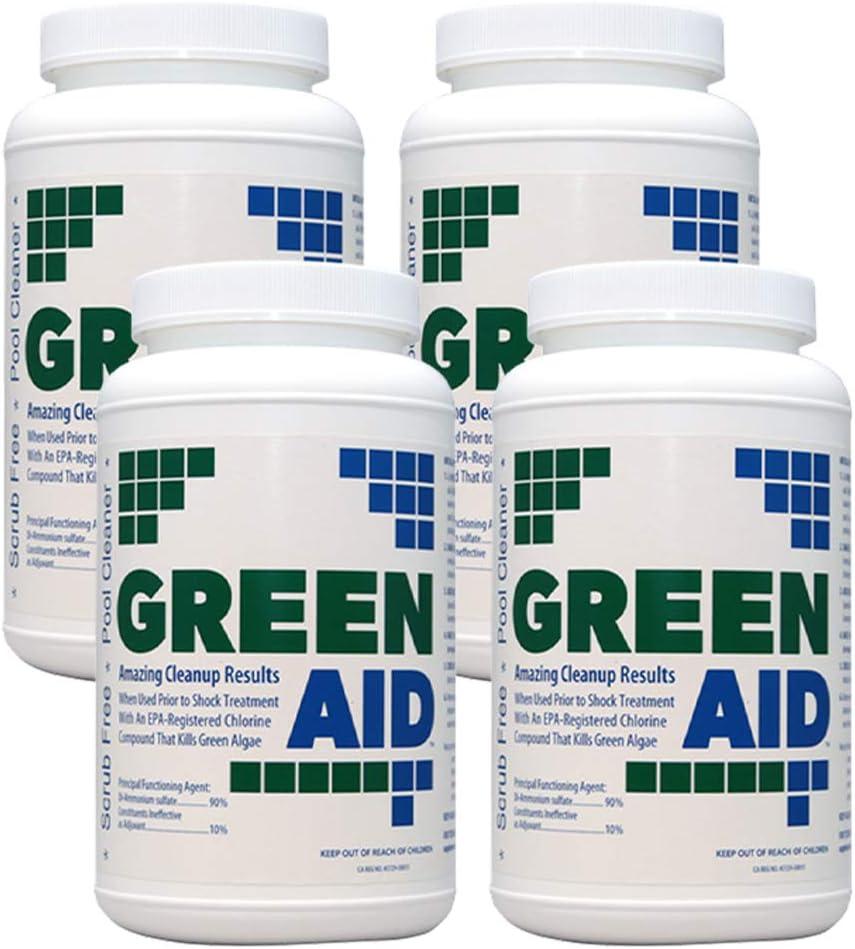 4 Pack Coral Seas Green Aid 2 Clean Algaecide Max 64% OFF Classic 2Lb
