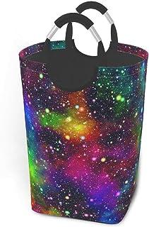 N\A Univers Nebula Galaxy avec paniers de Rangement Arc-en-Ciel Panier à Linge Sale Flexible Sac Organisateur écologique C...