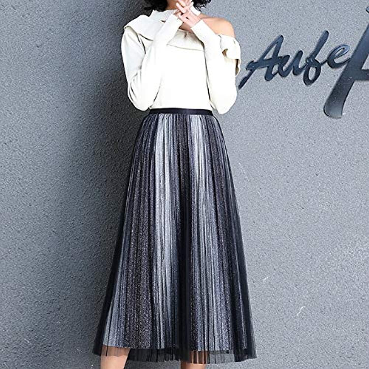 Women's Swing Skirts  Solid colord High Waist Slim