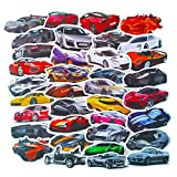 Ratgoo Stickers of Luxury Cars, Vinyl Reusable Waterproof Sticker for Laptop Phone Pad Water Bottle Hydro Flask Bike Motorcycle Car Bumper, Vehicle Racing Sports Car Decal for Kids Fans Teens, 50-Pcs