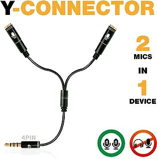 Y Splitter Mic and Mic - Microphone TRRS Splitter - 2...
