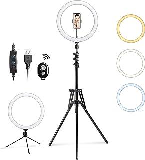 12'' Selfie Ring Light LED Camera Lighting with Tripod...