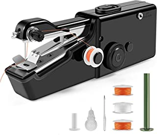 Handle Sewing Machine, Mini Portable Electric Sewing Machine for Beginners, Used for Fabrics, Clothing and Children's Cloth, Fast and Convenient Electric Repair Stitch Tool for Home Travel (Black)