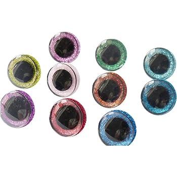 Plastique-Hiboux Yeux 12 mm Pour Aufnähen Sachet 6 Pièces