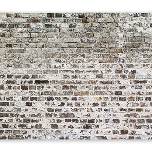 murando – Papier peint intissé 350x256 cm – Papier peint – Trompe l oeil – Tableaux muraux déco XXL – Brique f-A-0411-a-b