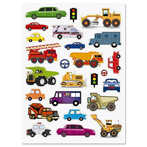 CURRENT Cars and Trucks Stickers - 50 Stickers