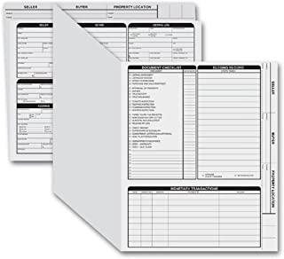 CheckSimple Real Estate Folder (Card Stock), Right Panel List, Letter Size. Pre-Printed with Closing Checklist and Color-Coded Dots (50 folders)