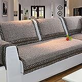 Z-one Sofa Abdeckung Retro Dekoration Sofa Überwurf Baumwolle Anti-rutsch Schmutzabweisend Kissen beschützer Für L förmige- Couch Schnitt-Kaffee 70x180cm(28x71inch)